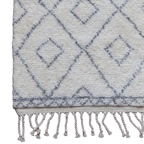 Moroccan Diamond Rug in Grey
