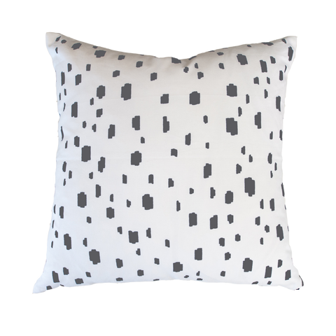Grey Spotted Pillow