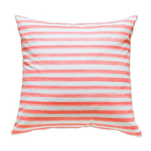 Coral Hawthorne Stripe Pillow
