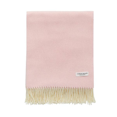 Herringbone Throw in Pink Sugar