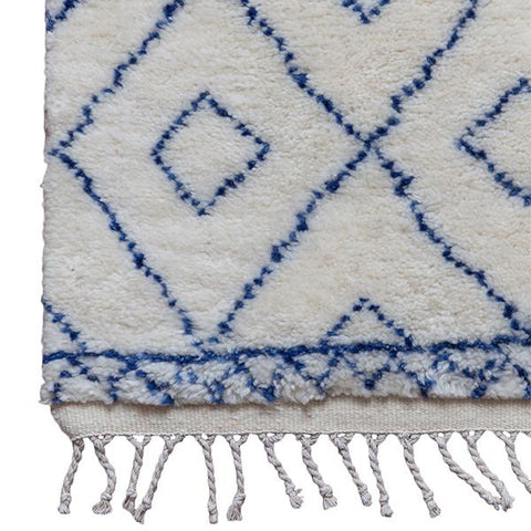 Moroccan Diamond Rug in Indigo