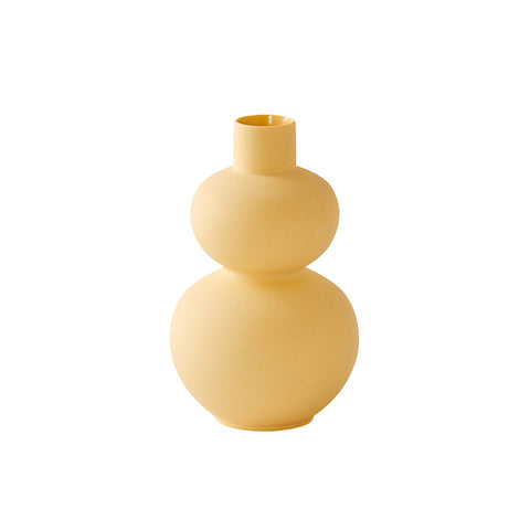 Mini Double Gourd Vase in Soft Yellow