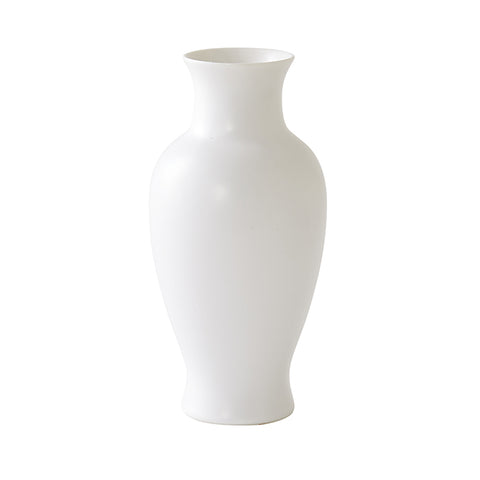 Medium Glossed Floral Vase in White