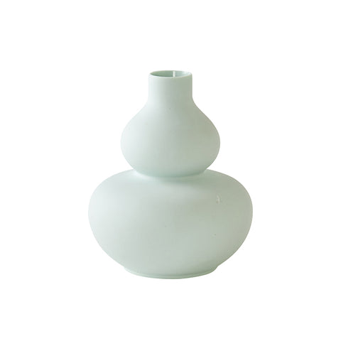 Mini Double Rounded Vase in Green