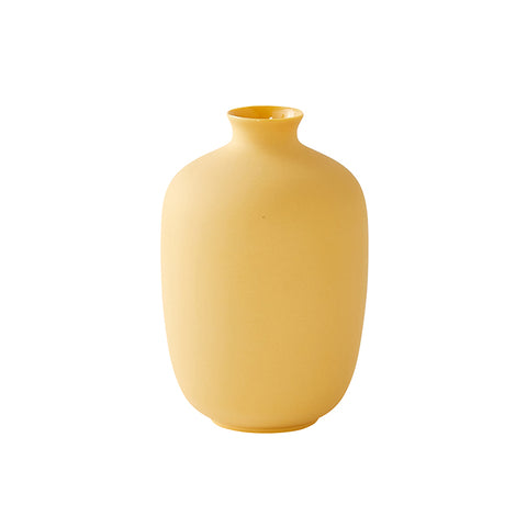 Mini Cylinder Vase in Soft Yellow