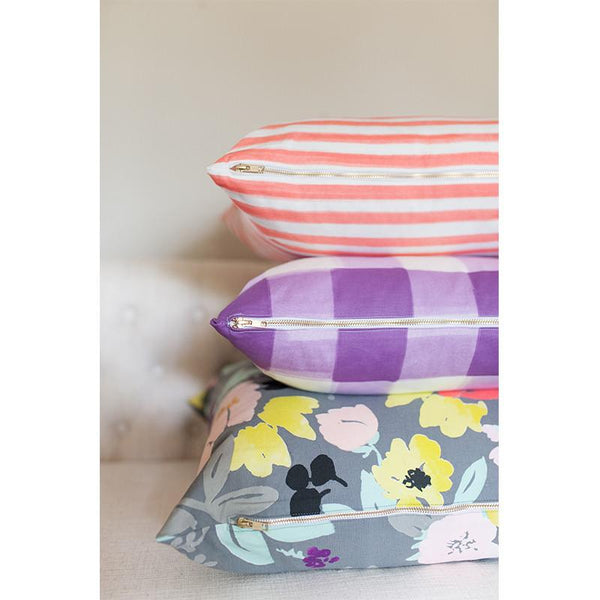 lilac burnside buffalo check pillow