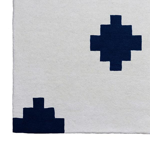 Confetti Tufted Rug in Navy