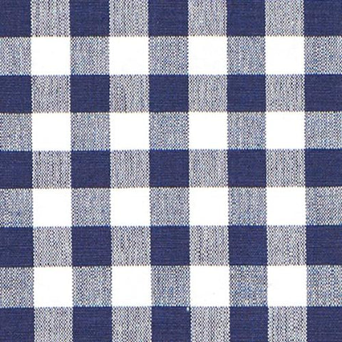 Navy Gingham Fabric