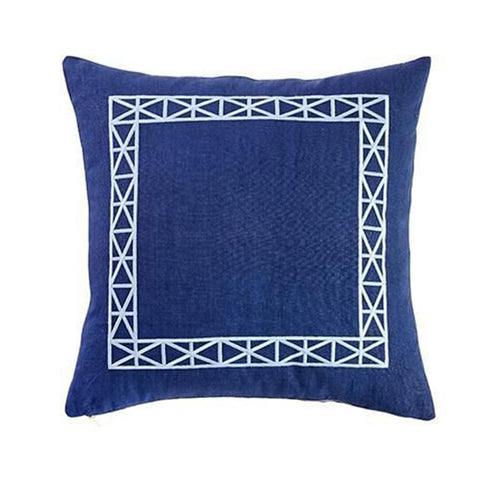 Navy Empire Trim Pillow
