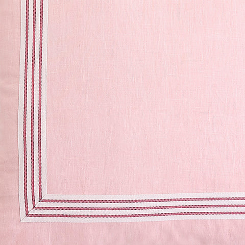 Blush with poppy stripe fabric swatch