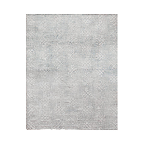 Nonogram Rug in Sterling