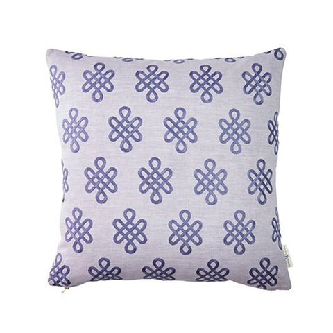 Nonogram Pillow in Lilac