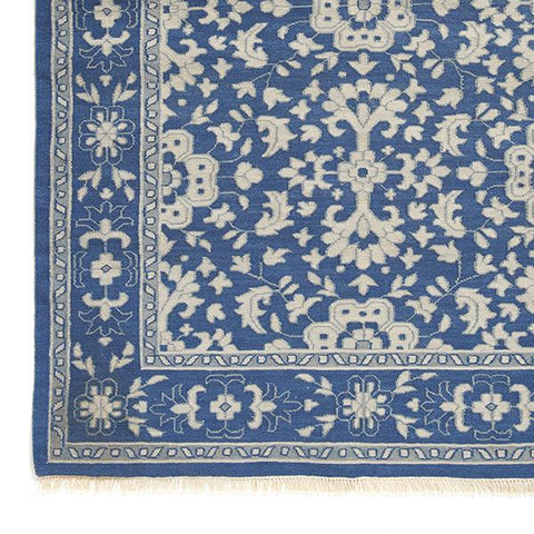 Flat Weave Emma Rug in French Blue