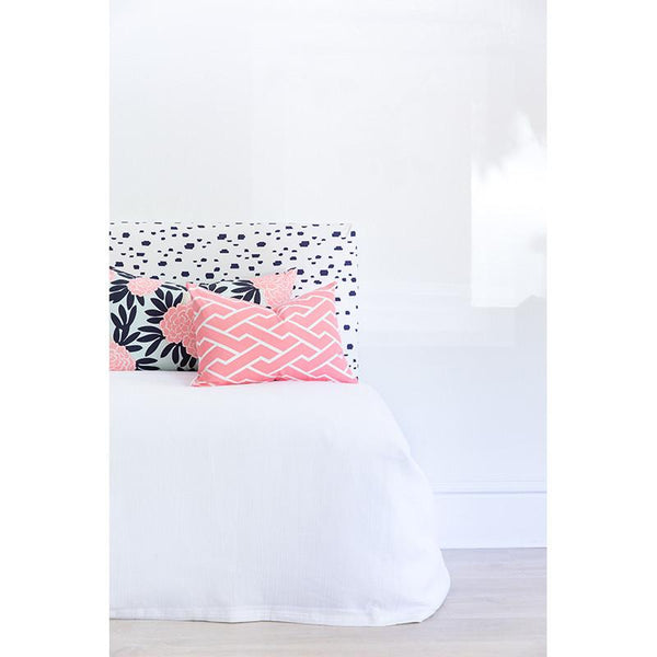 pink city maze pillow