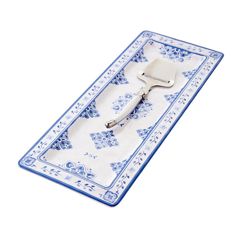 Bistro Cheese Serving Platter in Blue