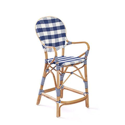 Madeleine Counter Stool in Navy