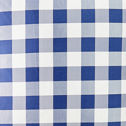 Silk Check in Royal Fabric Swatch