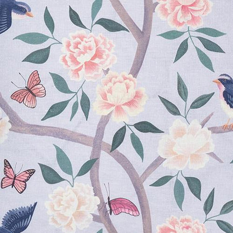 Soft Blue Chinoiserie Fabric