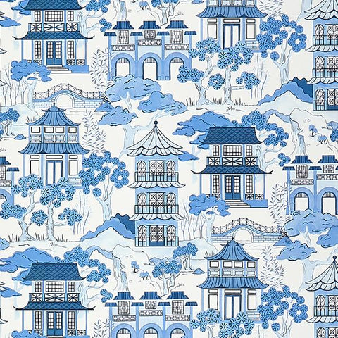 Canton Toile Wallpaper Swatch