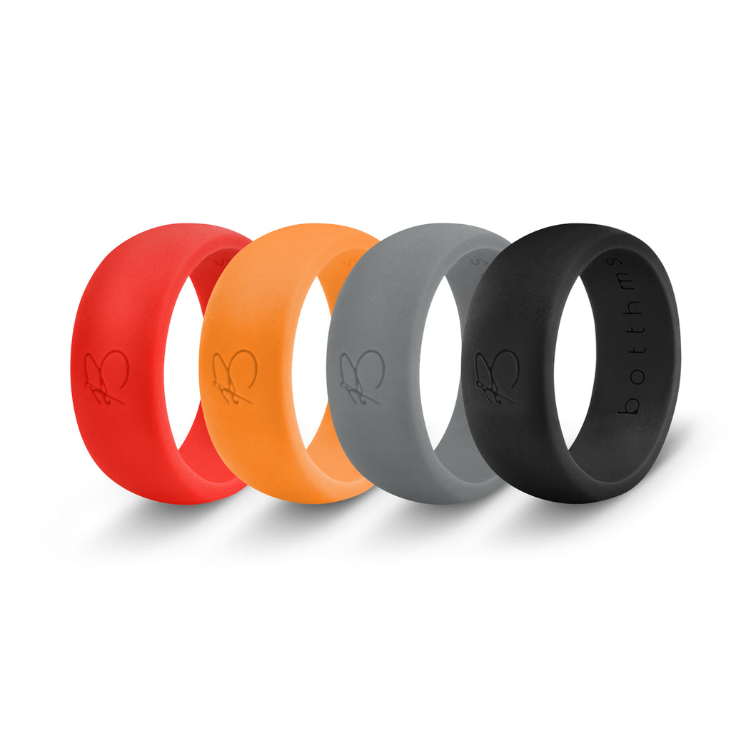 botthms Silicone Rings Combo Pack - 4