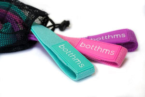botthms Long Fabric Exercise Bands Resistance Bands – Set Of 3