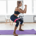 woman using botthms resistance bands