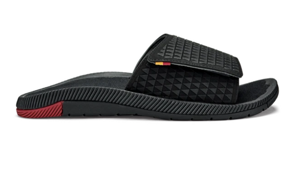 Olukai Men's Hālō 'Olu Slide - Black