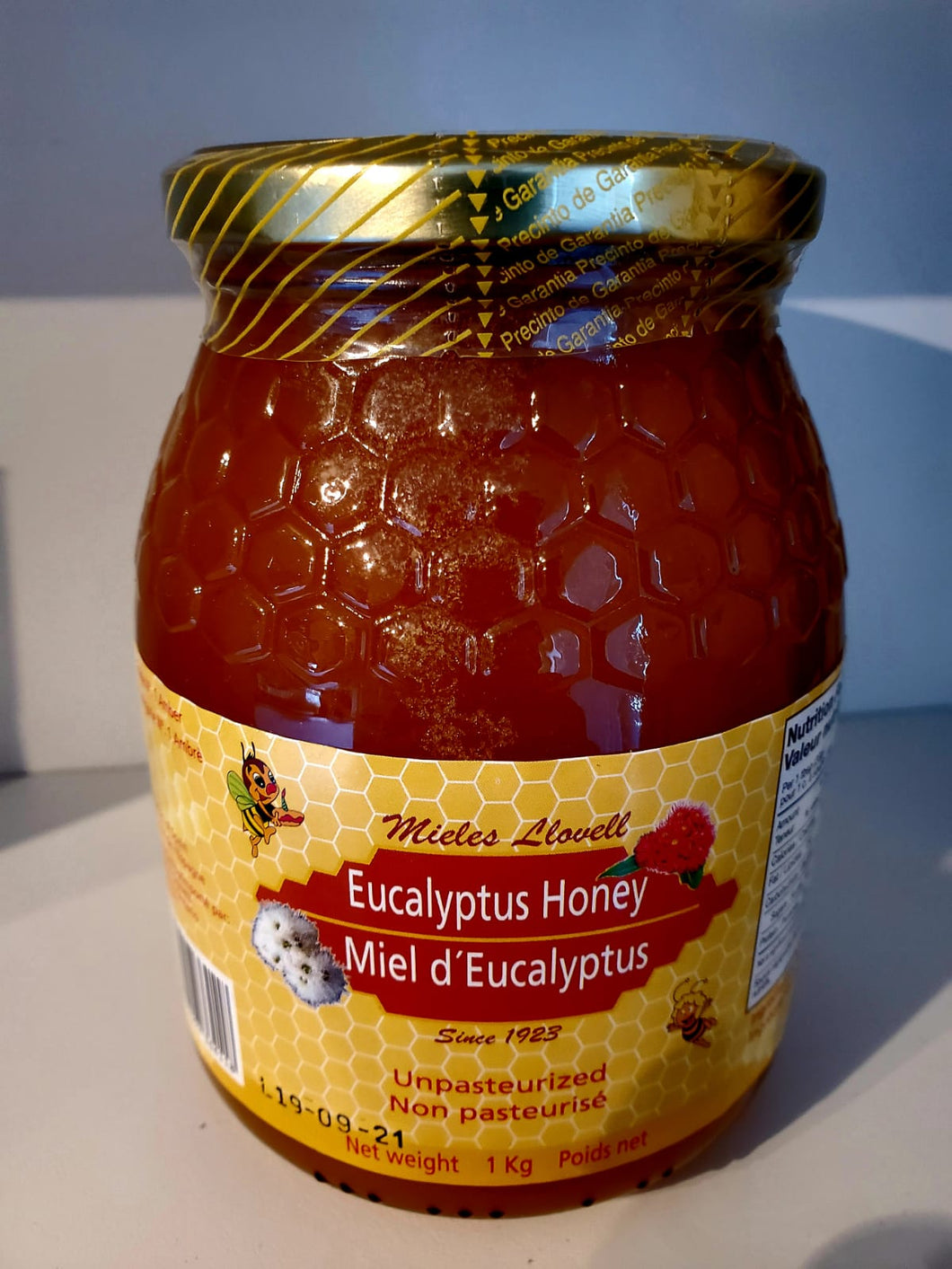 Raw Eucalyptus Honey (from Spain)