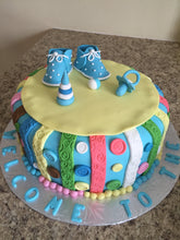 "Load image into Gallery viewer, Cake ""Baby Shower"" (Fondant)"