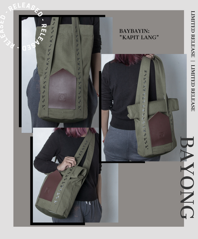 Baybayin tote bag by Legazy® Streetwear green