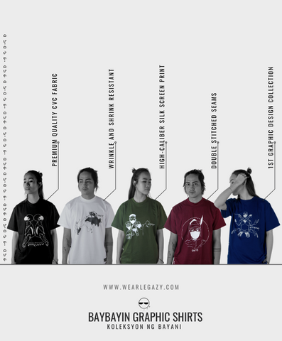Baybayin graphic shirts design by Legazy™