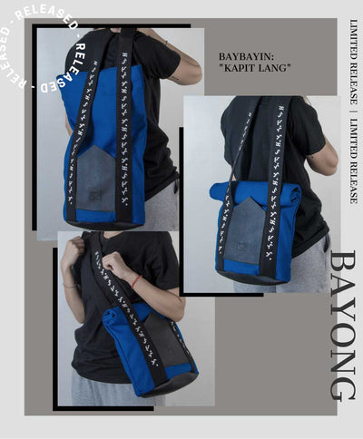 Baybayin tote bags by Legazy® Streetwear blue