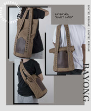 Baybayin tote bag by Legazy® Streetwear brown