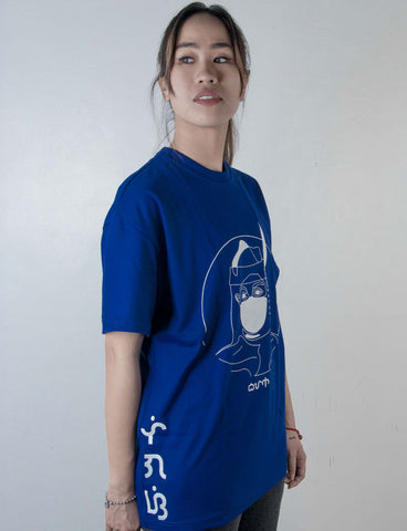 Bayani baybayin graphic shirt by Legazy™ asul side design