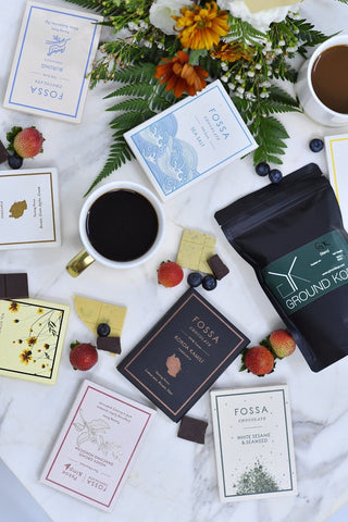 Chocolates & Coffee With An Omakase Flower Bouquet