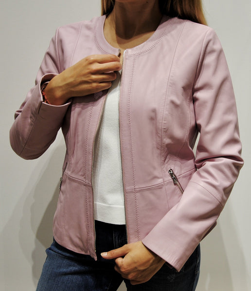 Gerry Weber Pink Leather Jacket