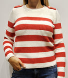 525 Sweater Red & White Stripe