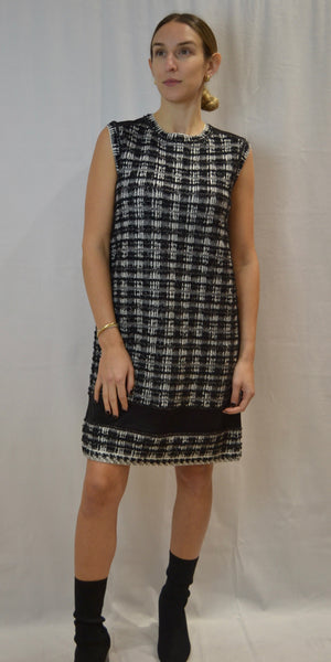 D. Exterior Tweed Dress