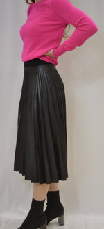 Load image into Gallery viewer, D. Exterior Skirt Pleated Leather Skirt