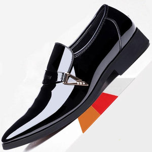 【Limited Time Offer⏰⏰】Men's Fashion Bright Leather Men's Shoes