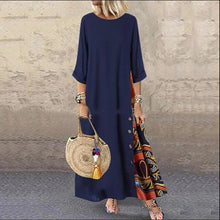 Load image into Gallery viewer, Linen Dresses Womens Long Long Sleeve Evening Formal Party Dress