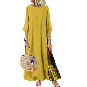 Linen Dresses Womens Long Long Sleeve Evening Formal Party Dress