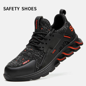 Men's Lightweight Breathable Steel Toe Safety Shoes