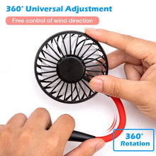 Load image into Gallery viewer, 3-speed USB hanging mini sports fan with rechargeable battery