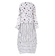Load image into Gallery viewer, Long Maxi Dresses Polka Dot Large Loose Fake Cotton Linen Dress