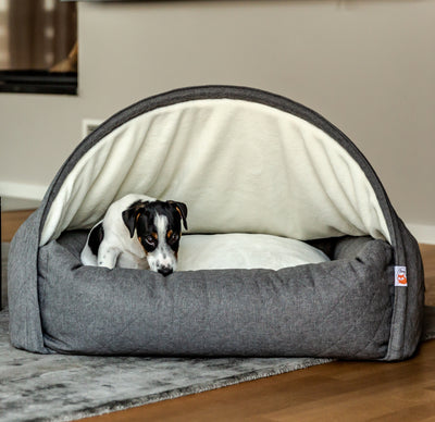 How does the Sleepy Fox® Snuggle Cave Bed Help Dogs and Cats with Anxiety?