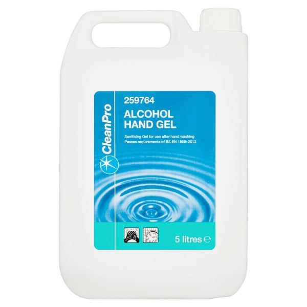 Clean Pro Alcohol Hand Gel 5 Litres (maximum 2 units per order)