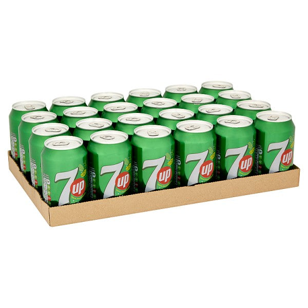 7UP Sparkling Lemon & Lime Drink Cans 24 x 330ml