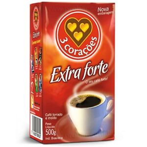 Cafe Tres Coracoes extra forte / coffee extra 5 x 500g