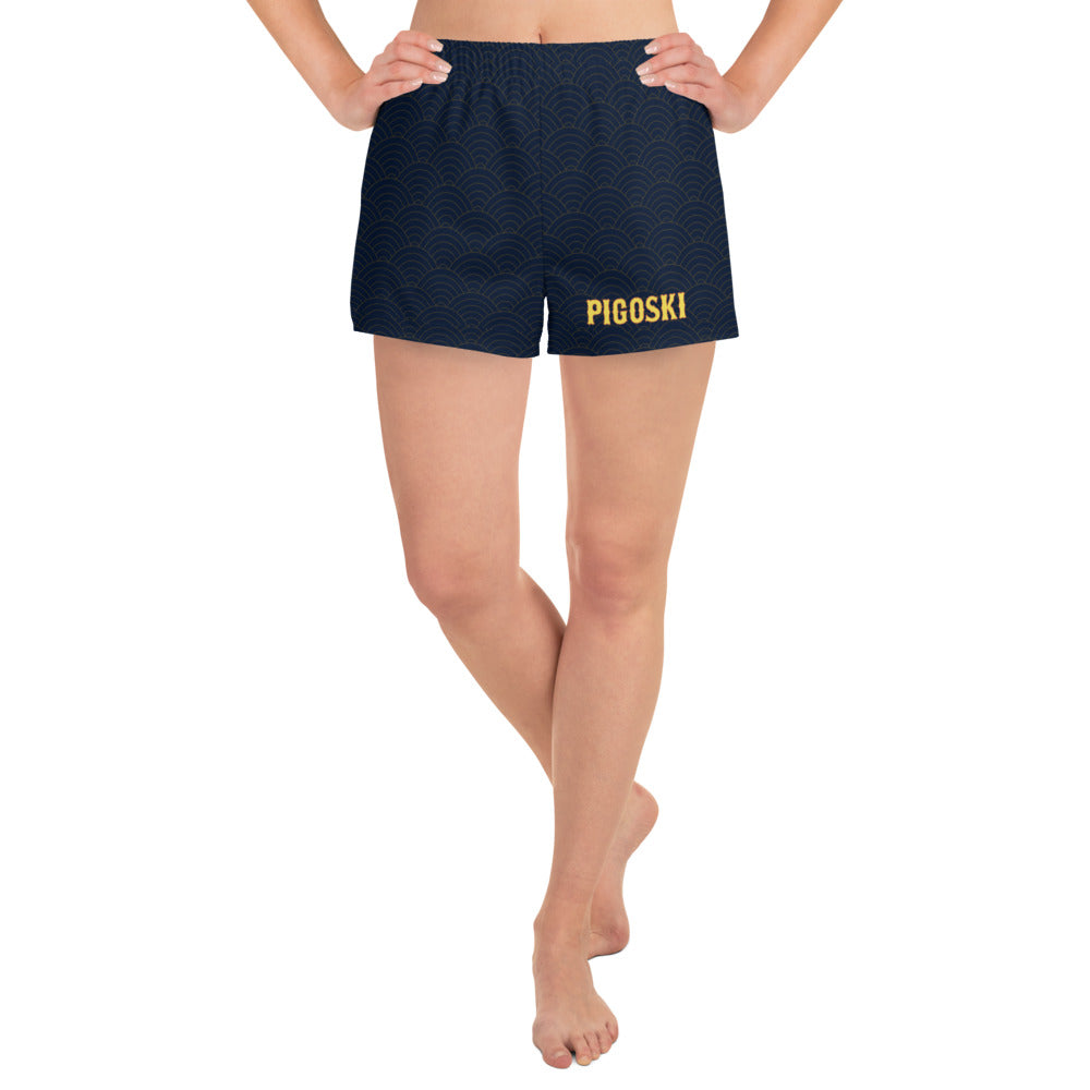 Women's Wave Athletic Shorts